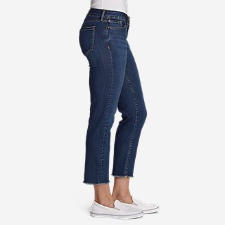 Thumbnail View 3 - Women's Elysian Slim Straight Crop Jeans - Raw Edge