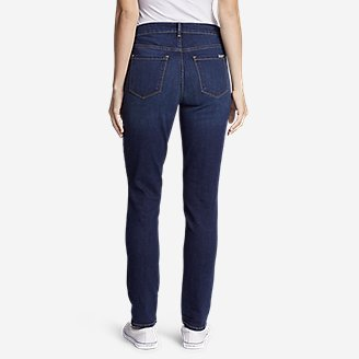 Thumbnail View 2 - Women's StayShape® High-Rise Slim Straight Jeans