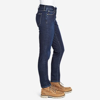 Thumbnail View 3 - Women's Brushed Back StayShape® Slim Straight Leg Jeans - Slightly Curvy