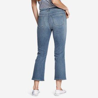 Thumbnail View 2 - Women's Elysian High-Rise Kick Flare Patch Pocket Crop Jeans