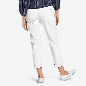 Thumbnail View 2 - Women's Boyfriend Cropped Jeans - White