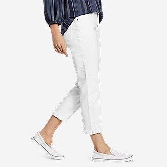 Thumbnail View 3 - Women's Boyfriend Cropped Jeans - White