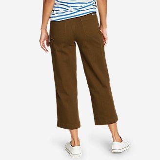 Thumbnail View 2 - Women's Elysian Slub Twill Wide-Leg Crop Carpenter Jeans