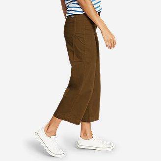 Thumbnail View 3 - Women's Elysian Slub Twill Wide-Leg Crop Carpenter Jeans
