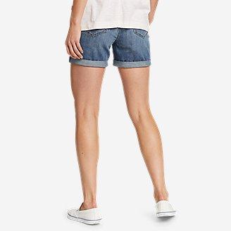 Thumbnail View 2 - Women's Boyfriend Rolled Shorts