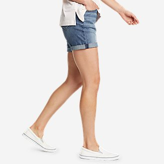Thumbnail View 3 - Women's Boyfriend Rolled Shorts
