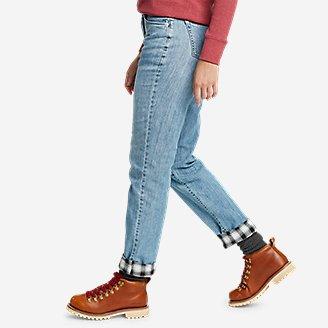 Thumbnail View 3 - Women's Boyfriend Flannel-Lined Jeans