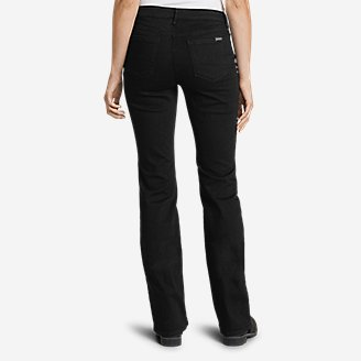 Thumbnail View 2 - Women's StayShape® Bootcut Black Jeans - Curvy