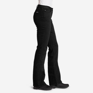 Thumbnail View 3 - Women's StayShape® Bootcut Black Jeans - Curvy