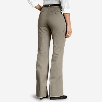Thumbnail View 2 - Women's StayShape® Twill Trousers - Slightly Curvy