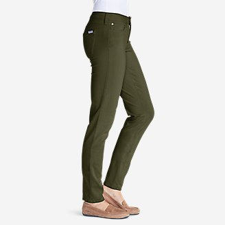 Thumbnail View 2 - Women's Elysian Twill Slim Straight Jeans - Slightly Curvy