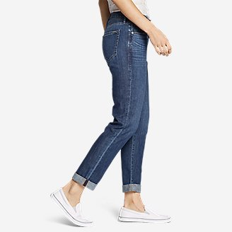 Thumbnail View 3 - Women's Boyfriend Jeans - Slim Leg