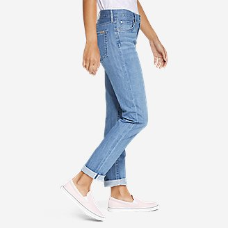 Thumbnail View 3 - Women's Boyfriend Jeans - Slim Leg