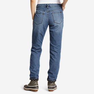 Thumbnail View 2 - Women's Boyfriend Flannel-Lined Jeans