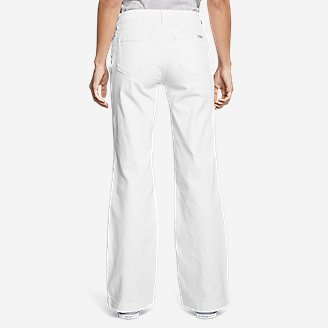 Thumbnail View 2 - Women's Curvy Denim Trousers - White