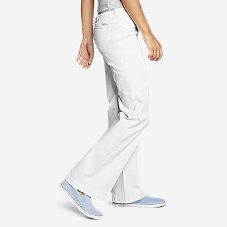 Thumbnail View 3 - Women's Curvy Denim Trousers - White