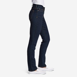 Thumbnail View 3 - Women's StayShape® Straight Leg Jeans - Curvy