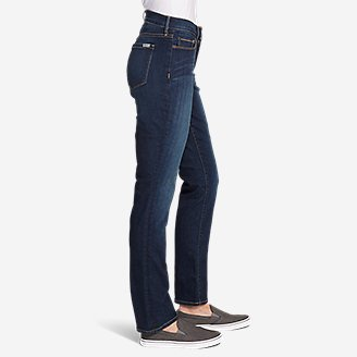 Thumbnail View 3 - Women's StayShape® Straight Leg Jeans - Curvy