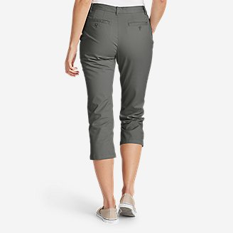 Thumbnail View 2 - Women's Stretch Legend Wash Cropped Pants - Curvy Fit