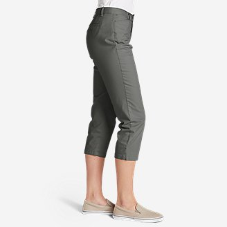 Thumbnail View 3 - Women's Stretch Legend Wash Cropped Pants - Curvy Fit