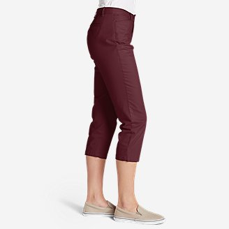 Thumbnail View 3 - Women's Stretch Legend Wash Cropped Pants - Curvy Fit