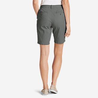 "Thumbnail View 2 - Women's Stretch Legend Wash Shorts - Curvy Fit, 10"""