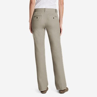 Thumbnail View 2 - Women's StayShape® Straight Twill Pants - Slightly Curvy