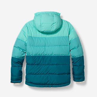 Thumbnail View 3 - Girls' Classic Down Hooded Jacket
