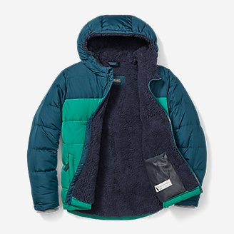 Thumbnail View 2 - Boys' Classic Down Hooded Jacket