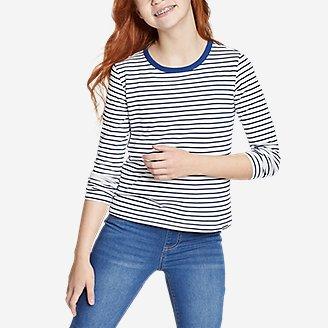 Thumbnail View 2 - Girls' Favorite Long-Sleeve T-Shirt - Stripe