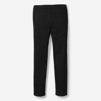 Thumbnail View 2 - Girls' Knit Flex Jeans - Black