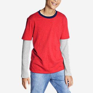 Thumbnail View 2 - Boys' Basin Long-Thermal-Sleeve T-Shirt