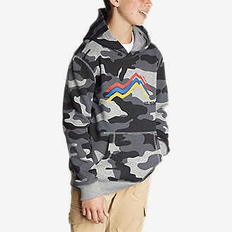 Thumbnail View 2 - Boys' Camp Fleece Pullover Hoodie