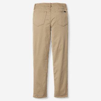 Thumbnail View 2 - Boys' Five-Pocket Knit Flex Jeans
