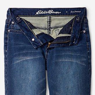 Thumbnail View 3 - Boys' Knit Flex Jeans - Slim Straight
