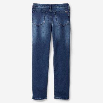 Thumbnail View 2 - Boys' Knit Flex Jeans - Slim Straight