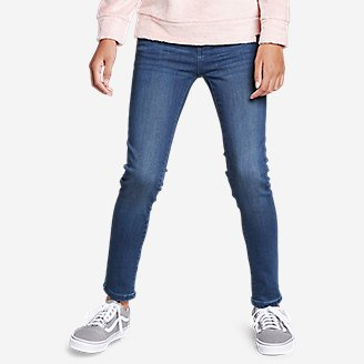 Thumbnail View 3 - Girls' Flex Brushed-Back Jeans