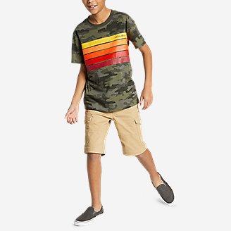 Thumbnail View 2 - Boys' Leeward Short-Sleeve T-Shirt - Chest Stripe
