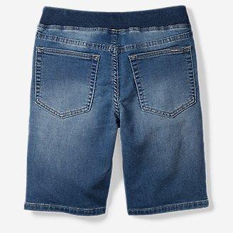 Thumbnail View 2 - Boys' Flex Knit Denim Pull-On Shorts
