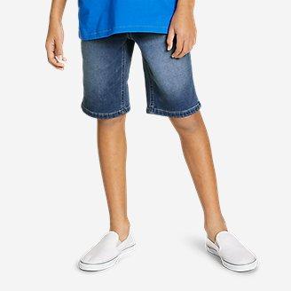 Thumbnail View 3 - Boys' Flex Knit Denim Pull-On Shorts