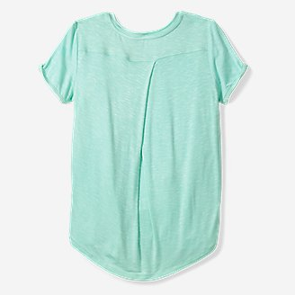 Thumbnail View 2 - Girls' Vista Twist Pleated-Back Short-Sleeve T-Shirt