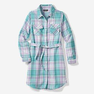 Thumbnail View 3 - Girls' Plaid Shirt Dress