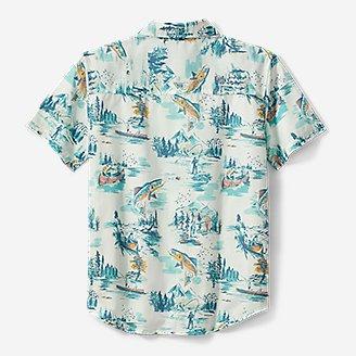 Thumbnail View 2 - Boys' Summer On The Go Short-Sleeve Poplin Shirt