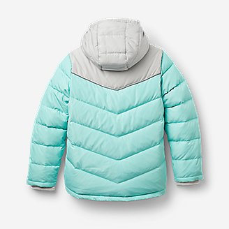 Thumbnail View 2 - Girls' Classic Down Hooded Jacket