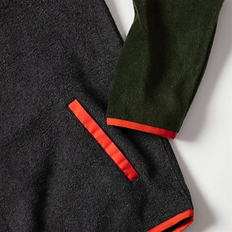 Thumbnail View 2 - Boys' Quest Fleece Snap-Neck Pullover - Color Block