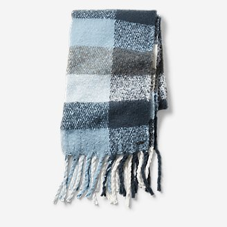 Thumbnail View 2 - Exploded Plaid Brushed Scarf