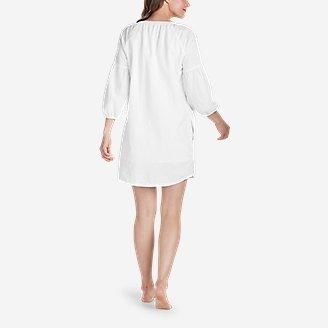 Thumbnail View 2 - Women's Linen Split-Neck Dress