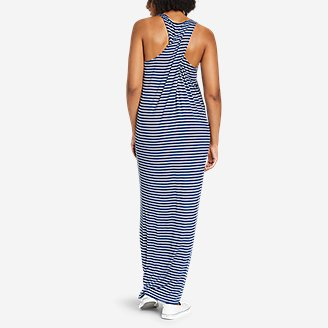 Thumbnail View 2 - Women's Soft Layer Twist-Back Sleeveless Maxi Dress