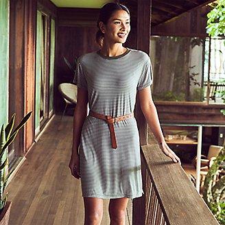 Thumbnail View 3 - Women's Soft Layer Short-Sleeve T-Shirt Dress