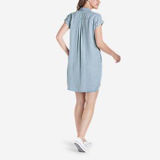 Thumbnail View 2 - Women's Tranquil Shirred Shirt Dress - Solid
